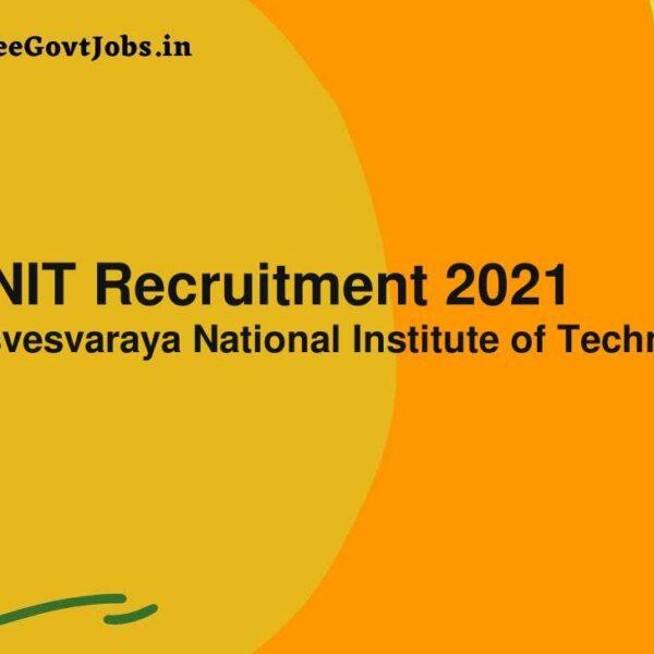 vnit recruitment 2021